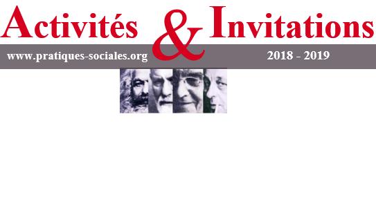 Manifestations Pratiques Sociales 2018 – 2019